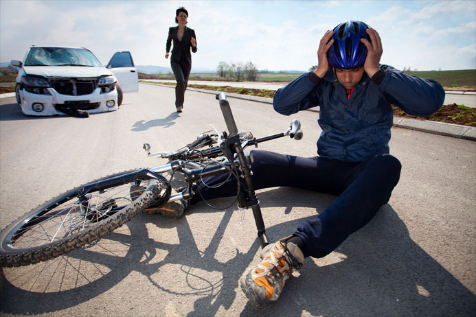 bicyclist injured by car