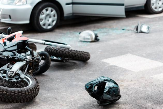 Motorcycle after collision