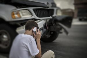 Teen calling parents after auto accident